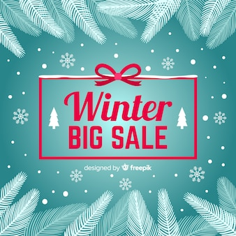 Pine branches winter sale background