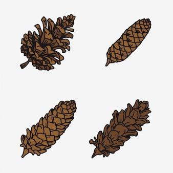 Pine cone set