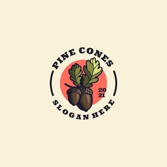 Pine cones logo mascot