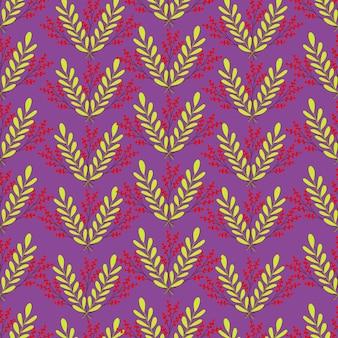 소나무 원활한 꽃 원활한 패턴 나뭇가지 벡터 유기 배경