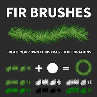 Pine tree brushes for illustrator
