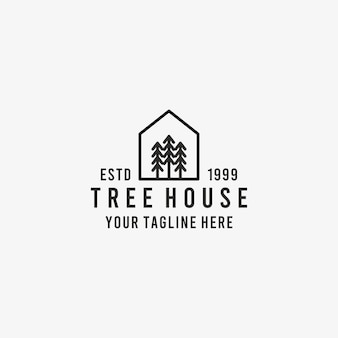 Pine tree house outline icon. linear style sign for mobile concept and web design. pine tree house simple line vector icon. pine tree house symbol, logo illustration. pixel perfect