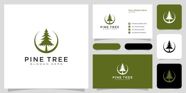 Pine tree icon illustration isolated sign symbol