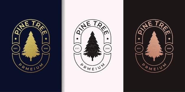 Pine tree vintage gold logo