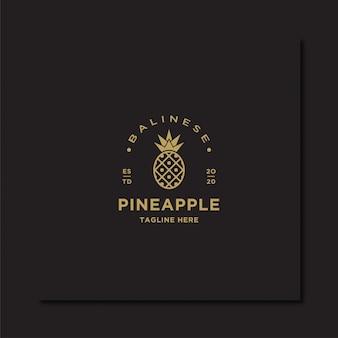 Pineaaple logo vintage