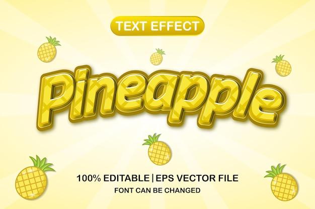 파인애플 3d 편집 가능한 텍스트 효과