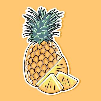 Pineapple cartoon design