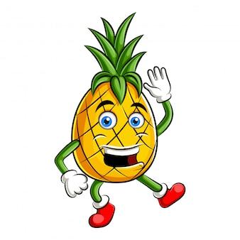 パイナップルキャラクターデザインまたはパイナップルマスコット