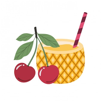 Pineapple cocktail for summer
