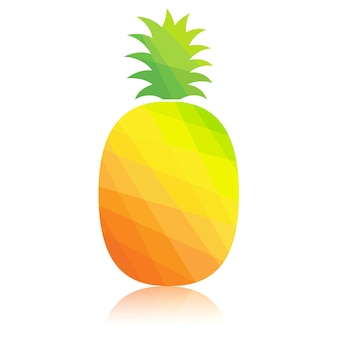Pineapple colorful polygonal abstract.