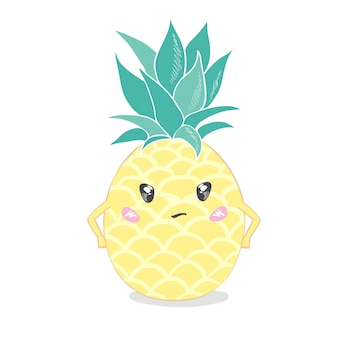 Pineapple, cute character