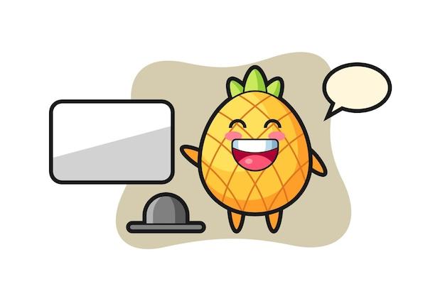 Pineapple, cute style design for t shirt, sticker, logo element