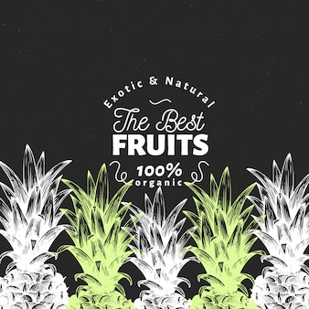Pineapple fruit design template