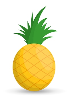 Pineapple fruit healthy organic food icon