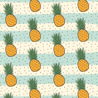 Pineapple fruit pattern background