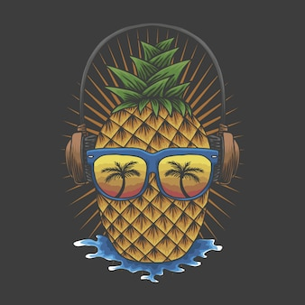 Pineapple headphone