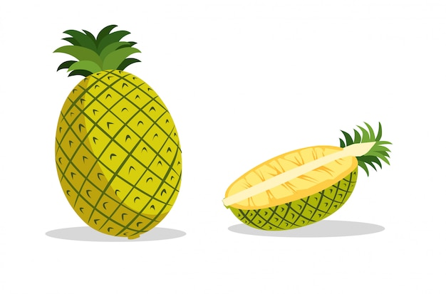 Pineapple is yellow to eat.