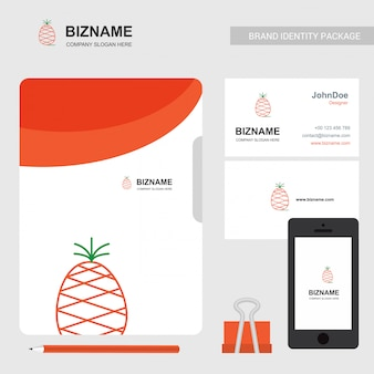Pineapple logo and business card