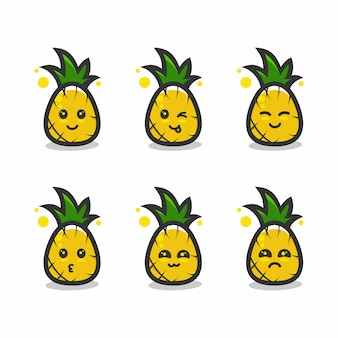 Pineapple mascot character cartoon