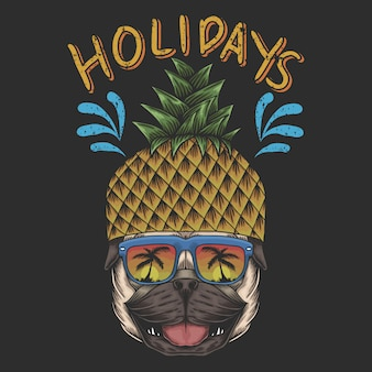 Pineapple pug holidays