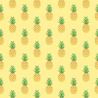 파인애플 원활한 패턴 배경