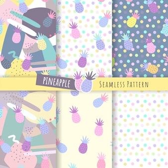 Pineapple seamless pattern collections.