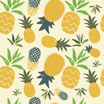 Pineapple seamless  pattern of summer