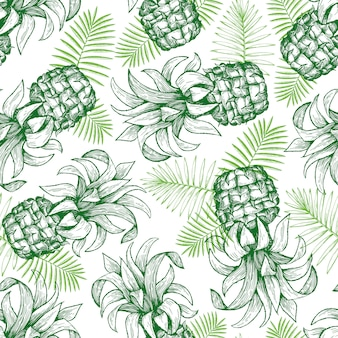 Pineapple seamless pattern.