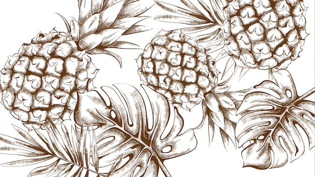 Pineapple tropic summer pattern