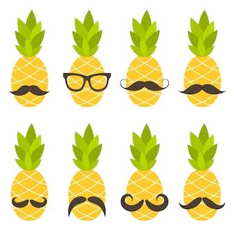 口ひげのあるパイナップル