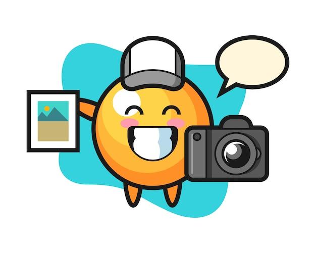 写真家としてのピンポンボールの漫画