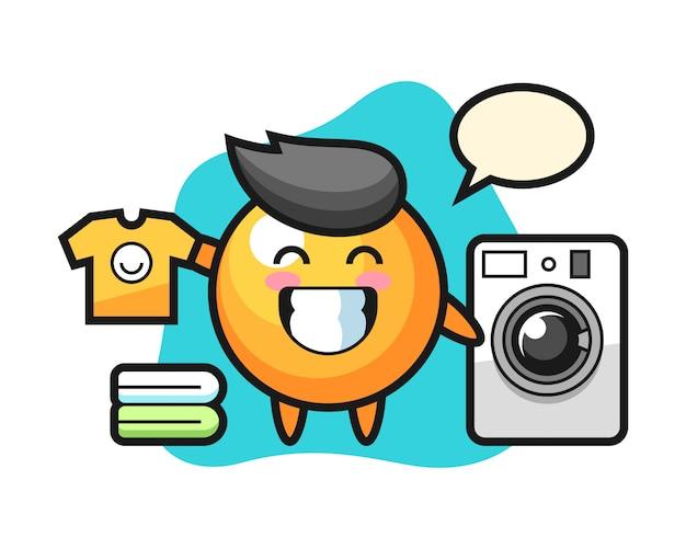 Шар для пинг-понга со стиральной машиной