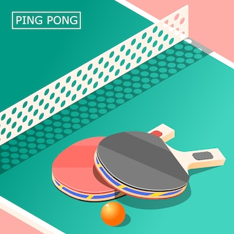 Ping pong isometric