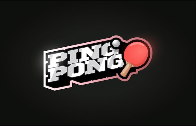 Ping pong modern professional sport logo in retro style