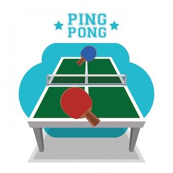 Ping pong sport design