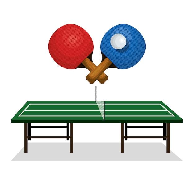 Ping pong sport emblem icon
