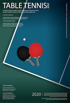 Pingpong poster template illustration