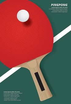 Pingpong poster template vector illustration