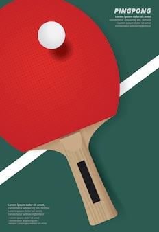 Шаблон рекламного плаката pingpong
