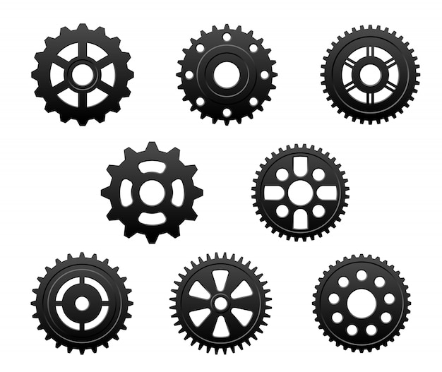 Pinions and gears set
