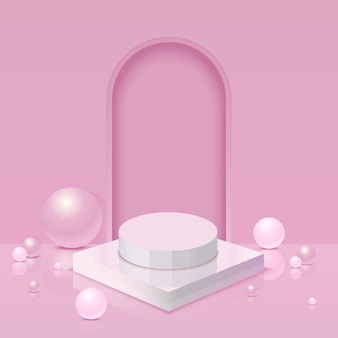 Pink 3d background design