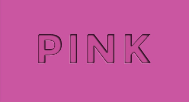 Pink 3d editable vector text effect free vector