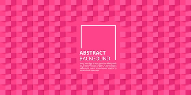 Pink 3d paper style background