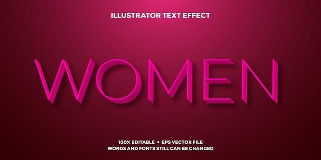 Pink 3d text effect minimalist