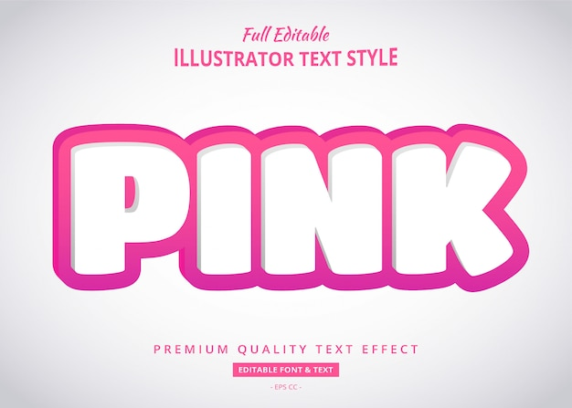 Pink 3d text style effect