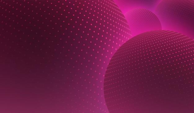 반짝이 3d 공 디지털 디자인 벡터 일러스트와 함께 핑크 추상적 인 배경