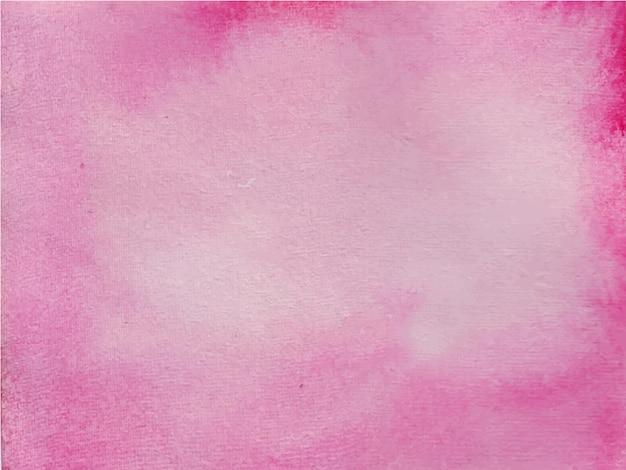 ピンクの抽象的な黒の水彩画の背景。手描きです。