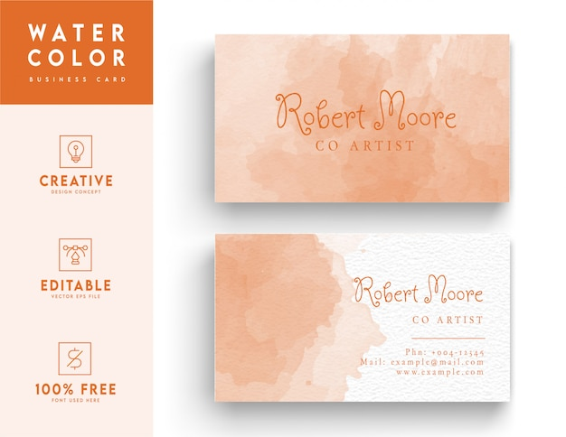 ピンクの抽象的なビジネスカードのデザインテンプレート