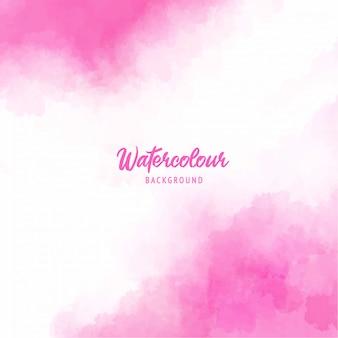 수채화 텍스처와 핑크 추상 스플래시 페인트 배경