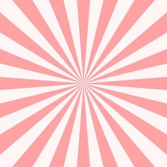Pink abstract sun rays background.